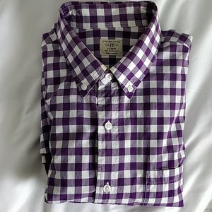 J.Crew Purple Gingham Button Up Shirt